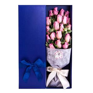 同城鲜花速递 19朵粉玫瑰礼盒E
