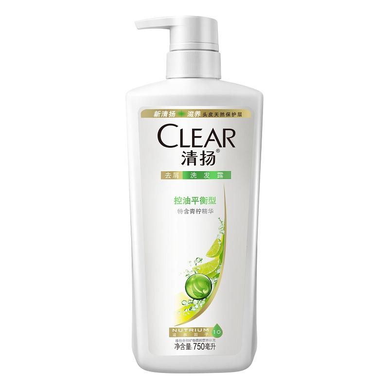 清扬洗发水 女士去屑洗发露控油平衡型750ml长效控油