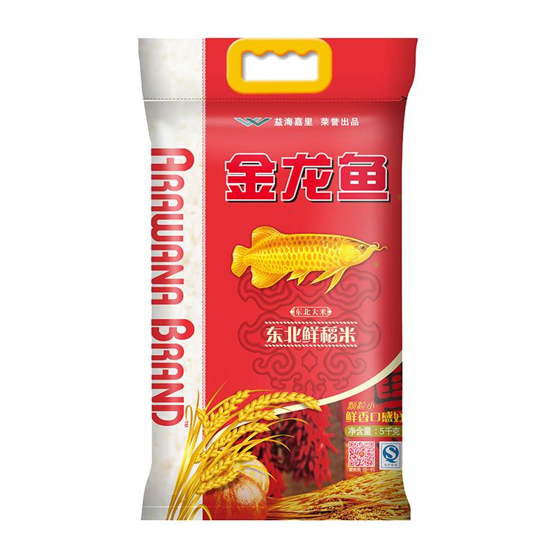 金龙鱼 鲜稻米5kg 寿司米 香软弹滑 东北大米